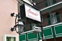 Arnaud's on Bourbon and Bienville Streets